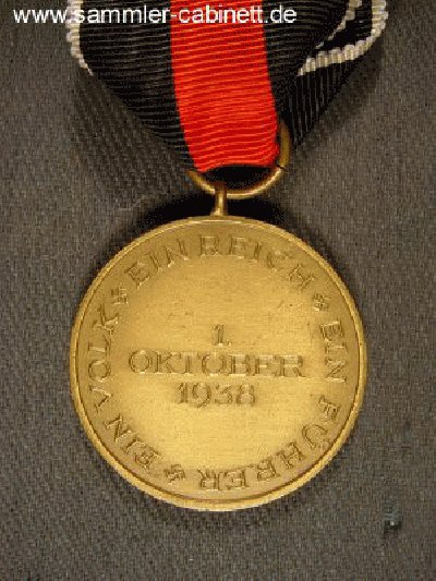 Sudetenland Med. - 01.10.1938 - Bronze am Band. 2