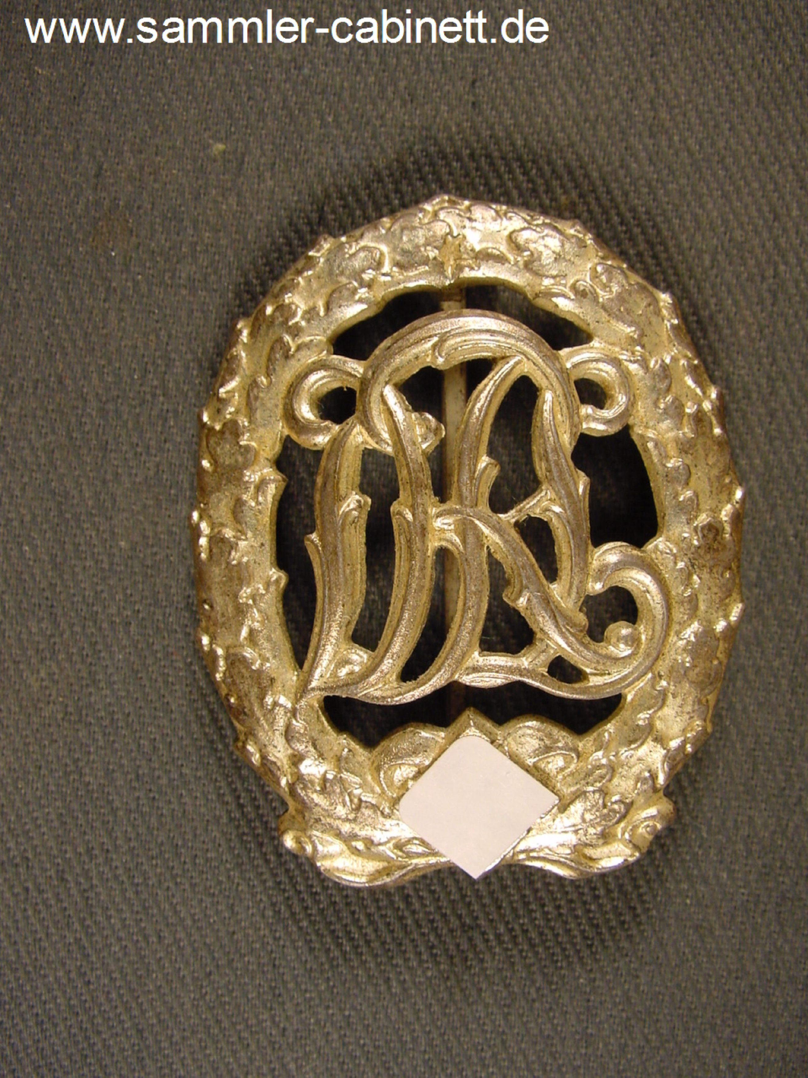 Reichssportabz Drl Mit Hakenkreuz In Silber Buntmetall